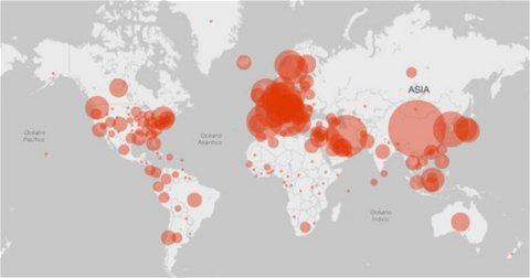 Cómo seguir el coronavirus desde tu iPhone o iPad: 4 mapas interactivos y actualizados en tiempo real