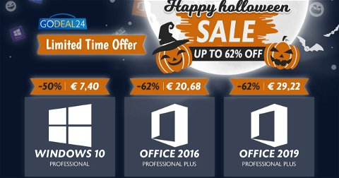 Windows 10 y Office bajan su precio por Halloween: desde 7,40€
