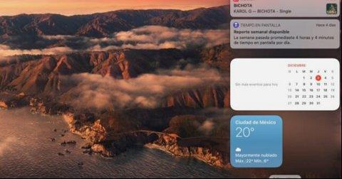 Cómo personalizar los widgets en macOS Big sur