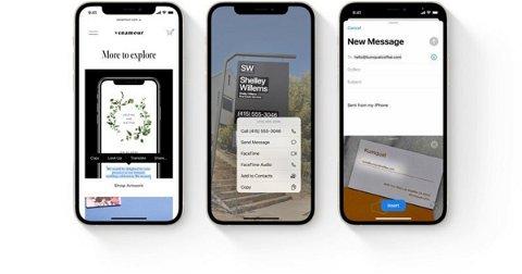 Cómo copiar y pegar texto de fotos en iOS 15
