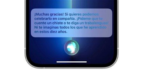 Siri cumple hoy 10 años y Apple lo celebra con nuevos chistes y respuestas