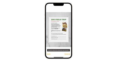 Cómo escanear documentos en el iPhone desde Notas